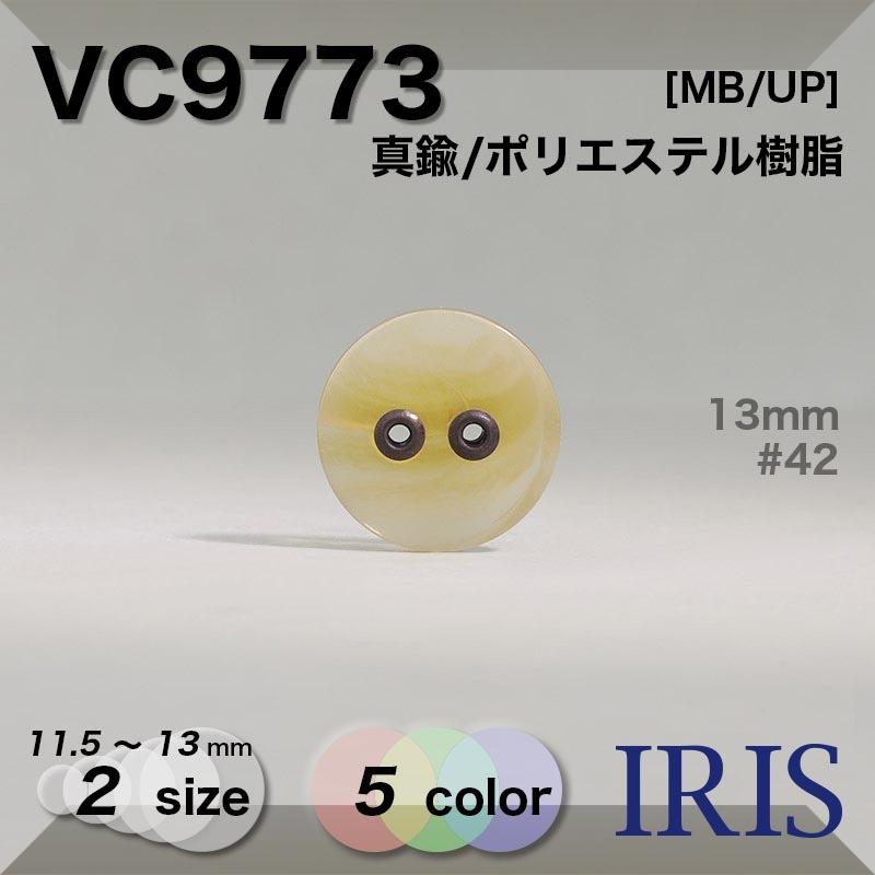 VC9773 真鍮/ポリエステル樹脂 表穴2つ穴ボタン  2サイズ5色展開