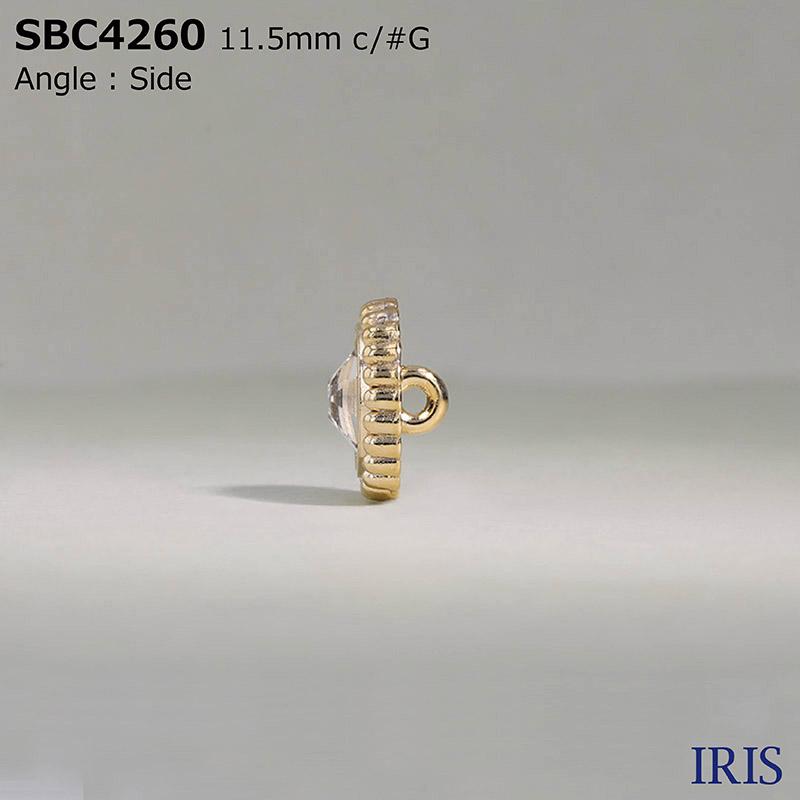 SBC4260 ガラス/ダイカスト 半丸カン足ボタン  1サイズ3色展開