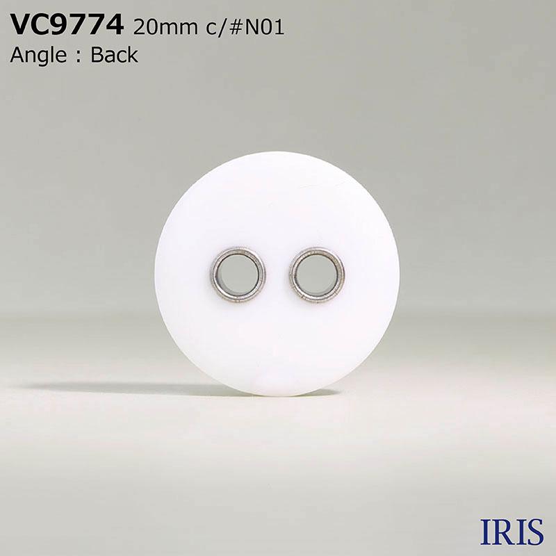 VC9774 真鍮/ポリエステル樹脂 表穴2つ穴ボタン  10サイズ1色展開