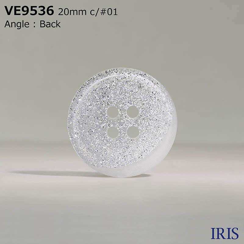 VE9536 ポリエステル樹脂 表穴4つ穴ボタン  5サイズ1色展開
