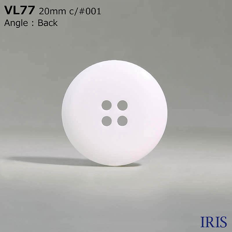 VL77 ポリエステル樹脂 表穴4つ穴ボタン  5サイズ1色展開