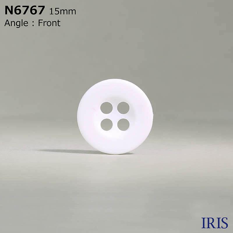 N6767 ナイロン樹脂 表穴4つ穴ボタン  3サイズ1色展開