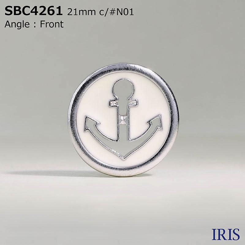 SBC4261 エポキシ樹脂/ハイメタル 表穴2つ穴ボタン  5サイズ1色展開