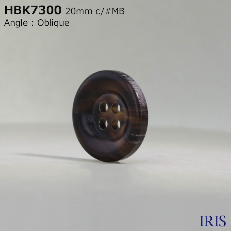 HBK7300 本水牛 表穴4つ穴ボタン  6サイズ5色展開