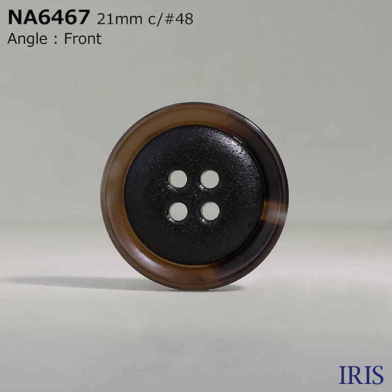 NA6467 ナイロン樹脂/ポリエステル樹脂 表穴4つ穴ボタン  5サイズ3色展開