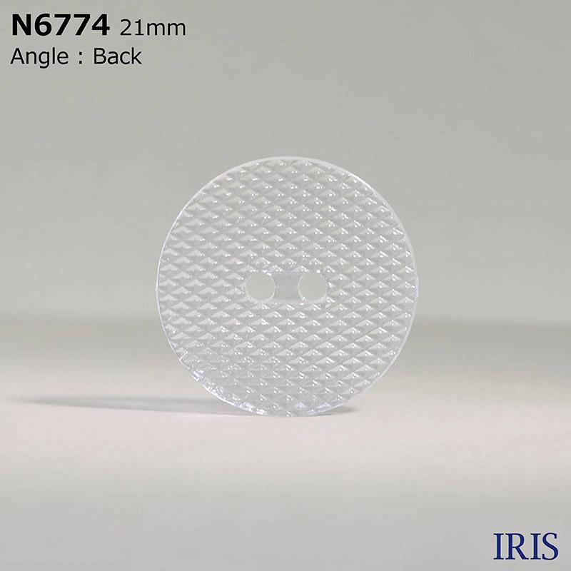 N6774 ナイロン樹脂 表穴2つ穴ボタン  5サイズ1色展開