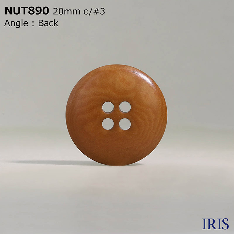 NUT890 ナット 表穴4つ穴ボタン  5サイズ12色展開