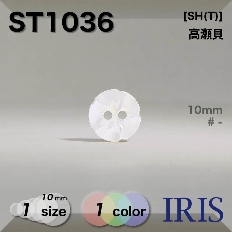 ST1036 高瀬貝 表穴2つ穴ボタン  1サイズ1色展開