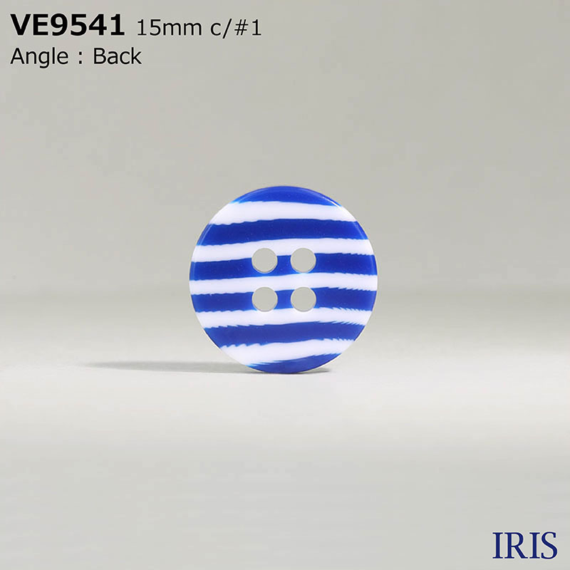VE9541 ポリエステル樹脂 表穴4つ穴ボタン  3サイズ1色展開
