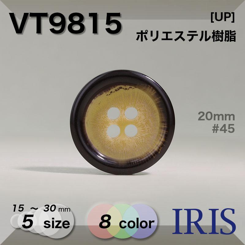 VT9815 ポリエステル樹脂 表穴4つ穴ボタン  5サイズ8色展開