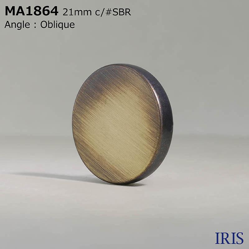 MA1864 真鍮 丸カン足ボタン  3サイズ3色展開