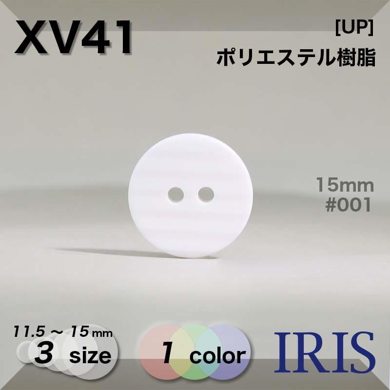 XV41 ポリエステル樹脂 表穴2つ穴ボタン  3サイズ1色展開