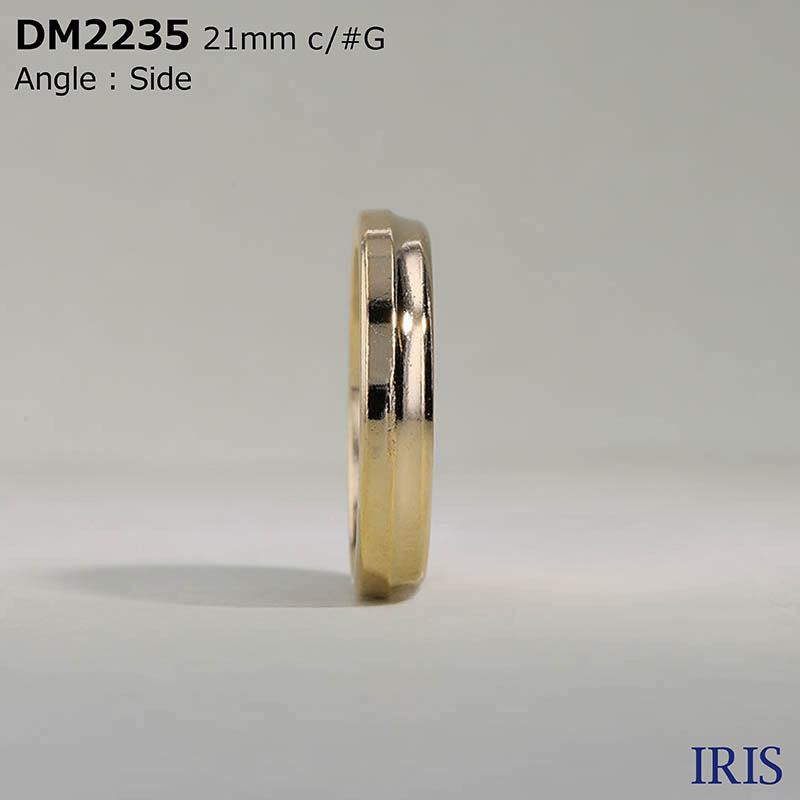 DM2235 エポキシ樹脂/ダイカスト 表穴4つ穴ボタン  3サイズ2色展開