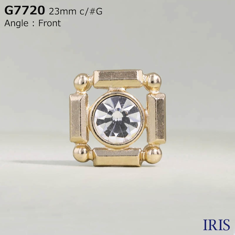 G7720 ガラス/キャスト 半丸カン足ボタン  3サイズ2色展開