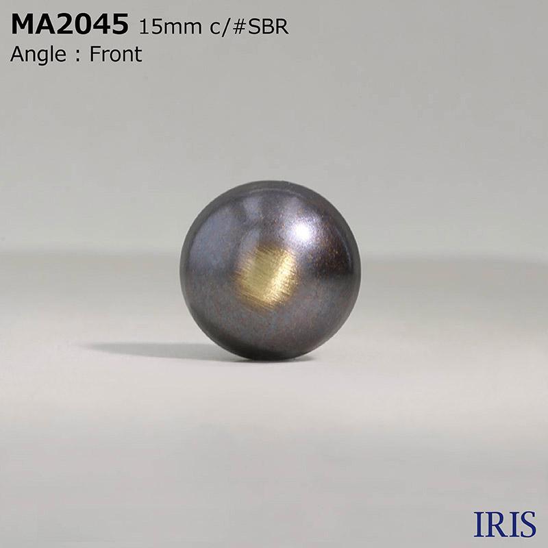 MA2045 真鍮 丸カン足ボタン  3サイズ4色展開