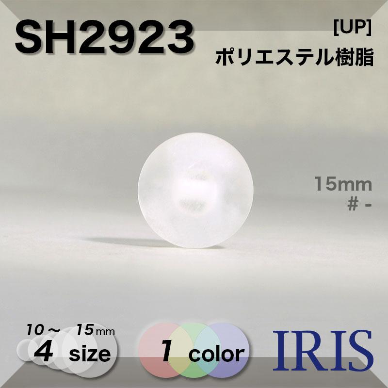 SH2923 ポリエステル樹脂 角足ボタン  4サイズ1色展開