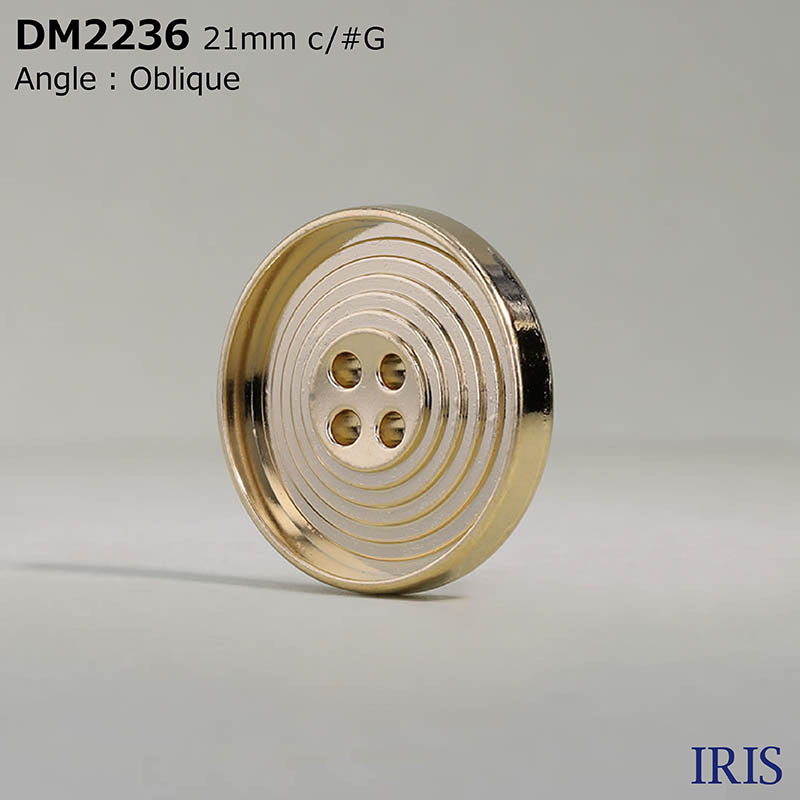 DM2236 ダイカスト 表穴4つ穴ボタン  3サイズ2色展開