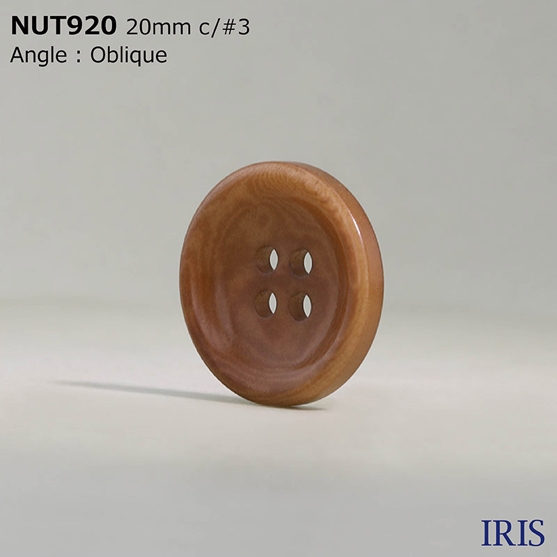 NUT920 ナット 表穴4つ穴ボタン  4サイズ12色展開