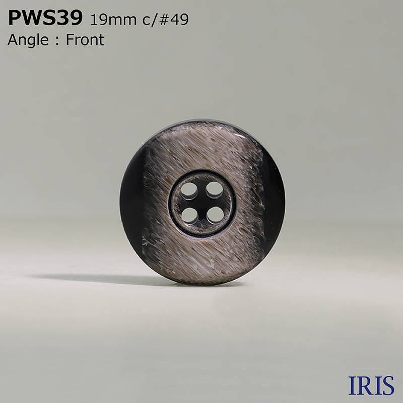 PWS39 ポリエステル樹脂 表穴4つ穴ボタン  4サイズ3色展開