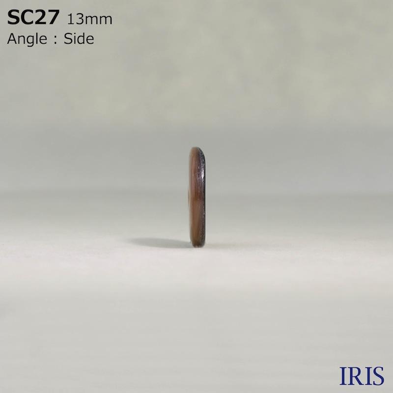 SC27 貝全般 表穴2つ穴ボタン  2サイズ1色展開