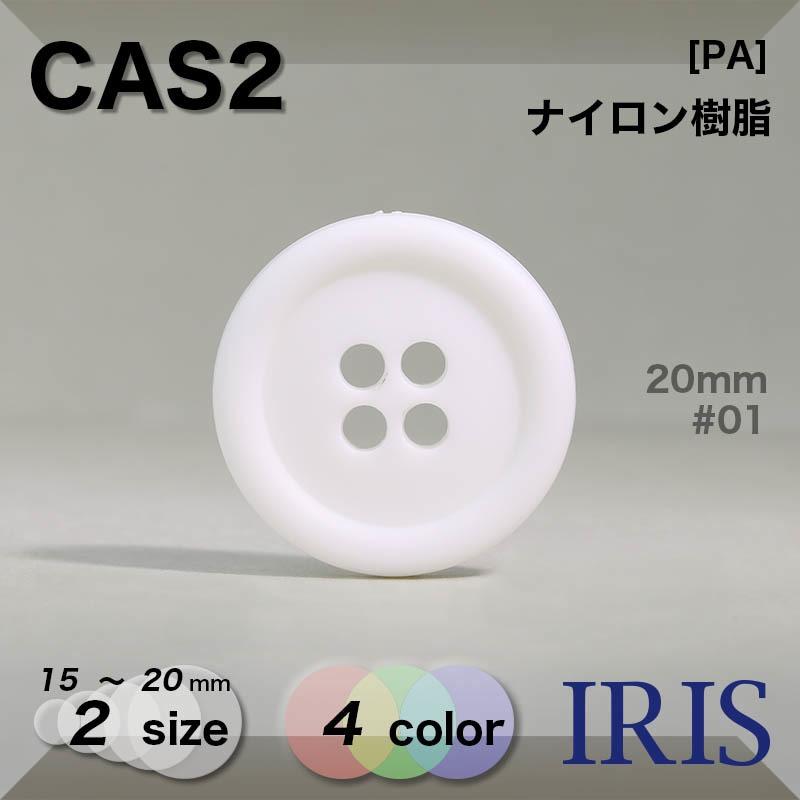 CAS2 ナイロン樹脂 表穴4つ穴ボタン  2サイズ4色展開