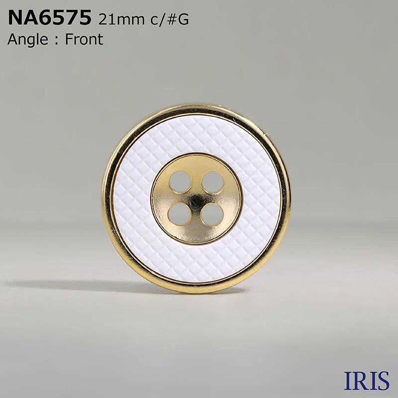 NA6575 ナイロン樹脂/ABS樹脂 表穴4つ穴ボタン  5サイズ2色展開