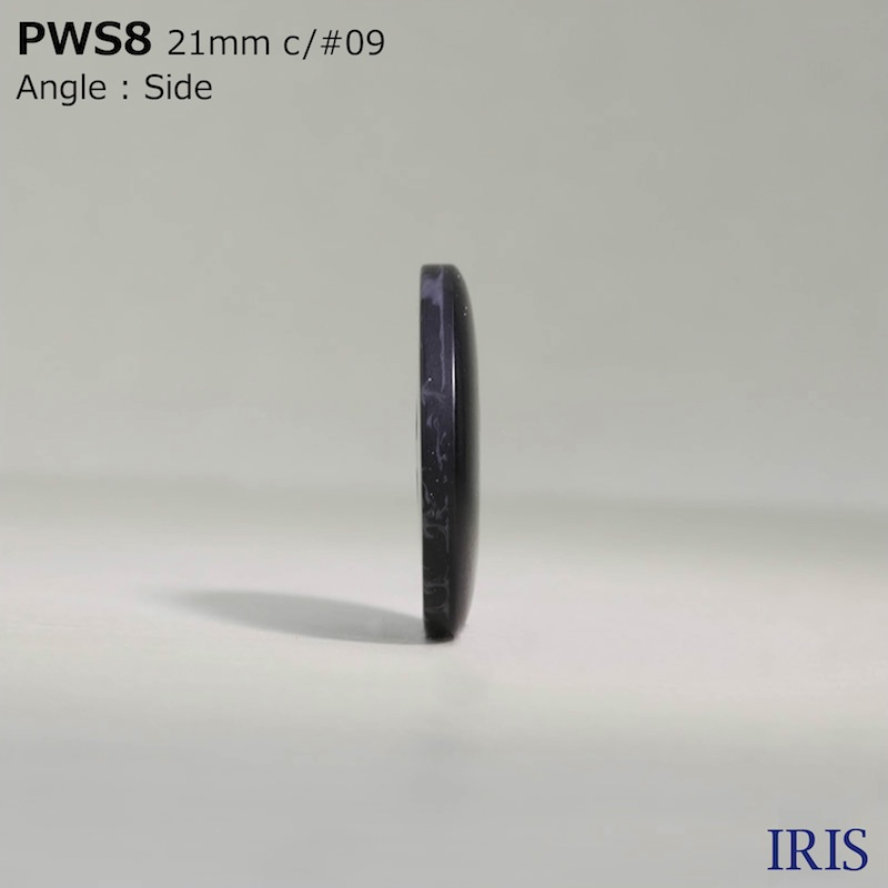 PWS8 ポリエステル樹脂 半丸カン足ボタン  8サイズ4色展開