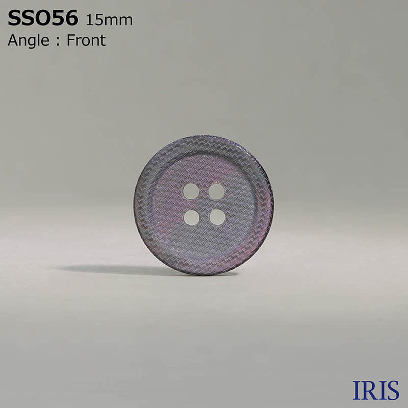 SSO56 黒蝶貝 表穴4つ穴ボタン  4サイズ1色展開