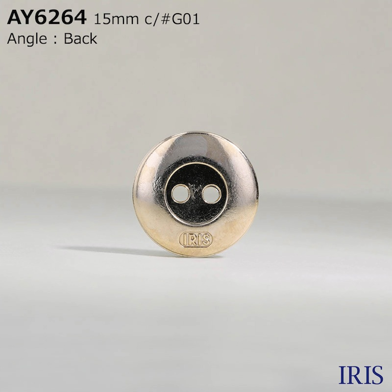 AY6264 エポキシ樹脂/ABS樹脂 表穴2つ穴ボタン  2サイズ2色展開