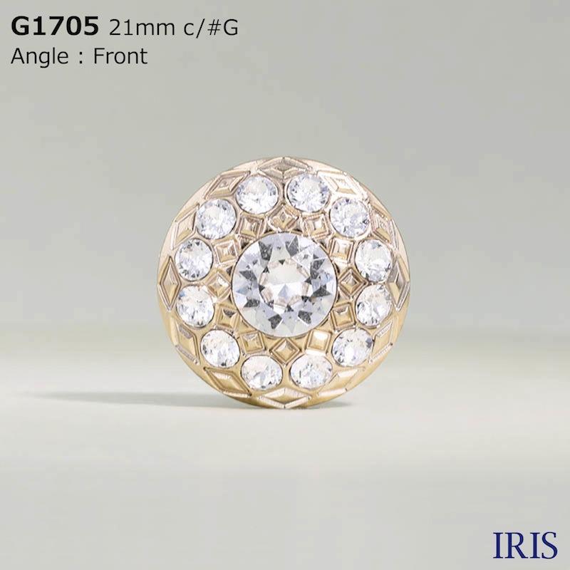 G1705 ガラス/ABS樹脂 角足ボタン  4サイズ2色展開