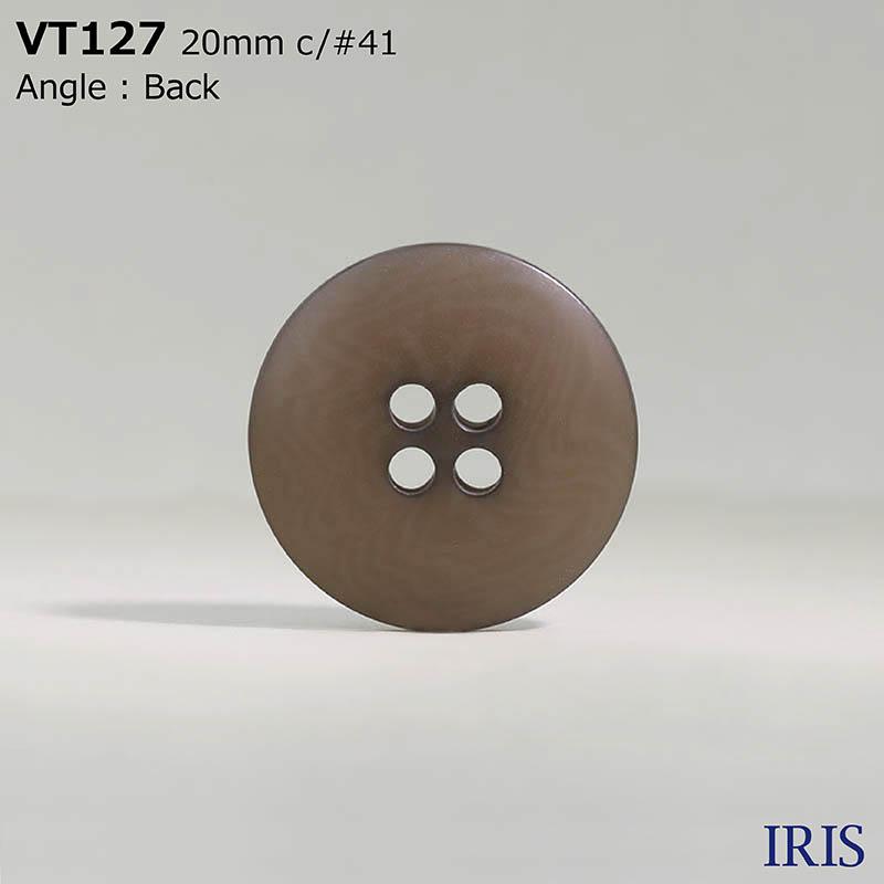 VT127 ポリエステル樹脂 表穴4つ穴ボタン  5サイズ8色展開