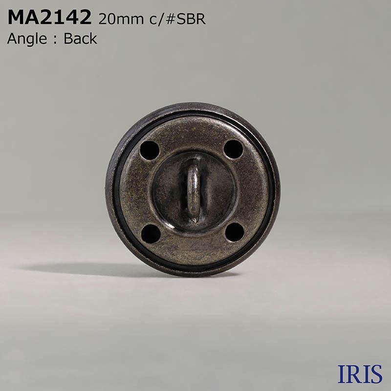 MA2142 真鍮 丸カン足ボタン  3サイズ3色展開