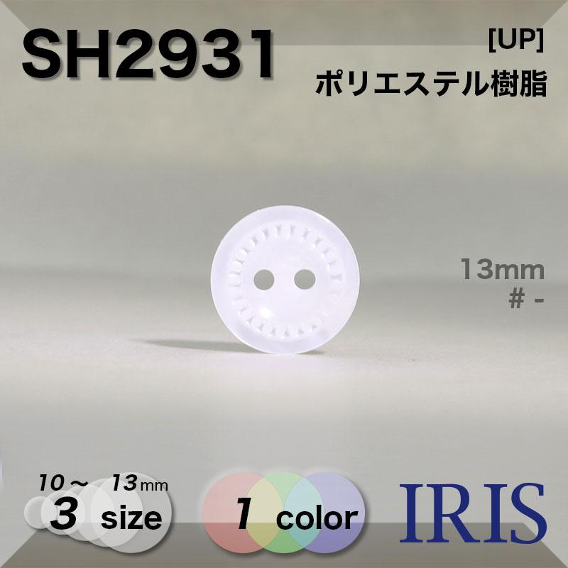 SH2931 ポリエステル樹脂 表穴2つ穴ボタン  3サイズ1色展開