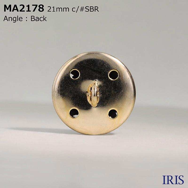 MA2178 ダイカスト/真鍮 丸カン足ボタン  4サイズ2色展開