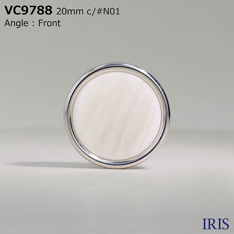 VC9788 ポリエステル樹脂/真鍮 トンネル足ボタン  4サイズ4色展開