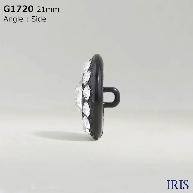 G1720 ガラス/ナイロン樹脂 角足ボタン  4サイズ1色展開