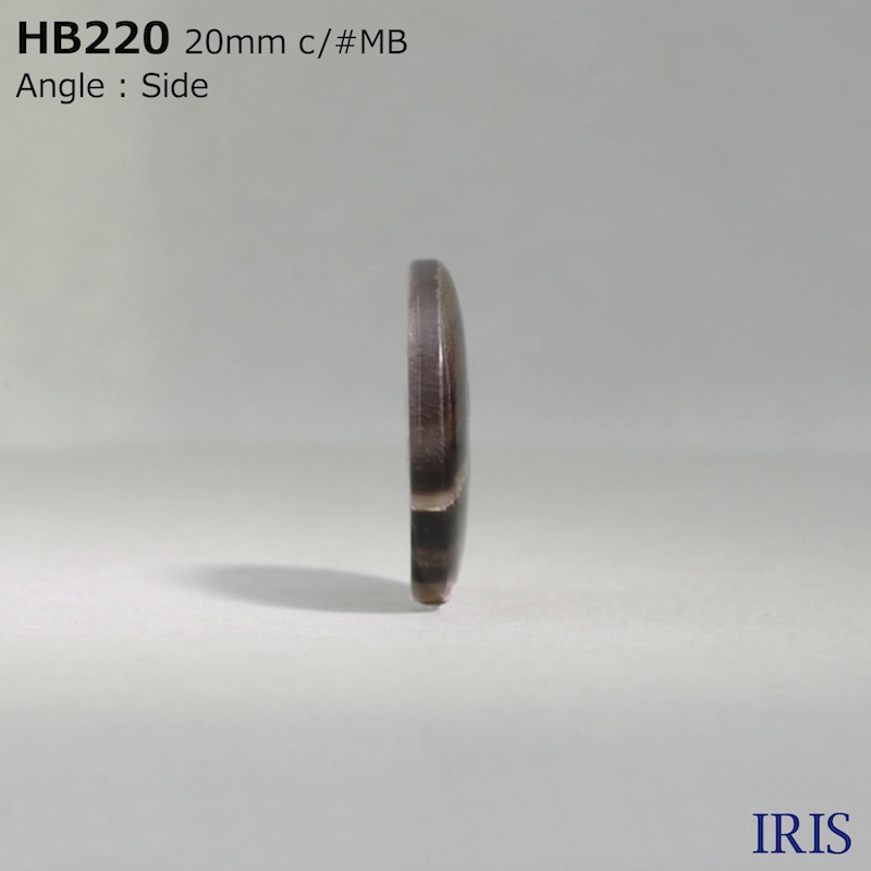 HB220 本水牛 表穴4つ穴ボタン  5サイズ5色展開