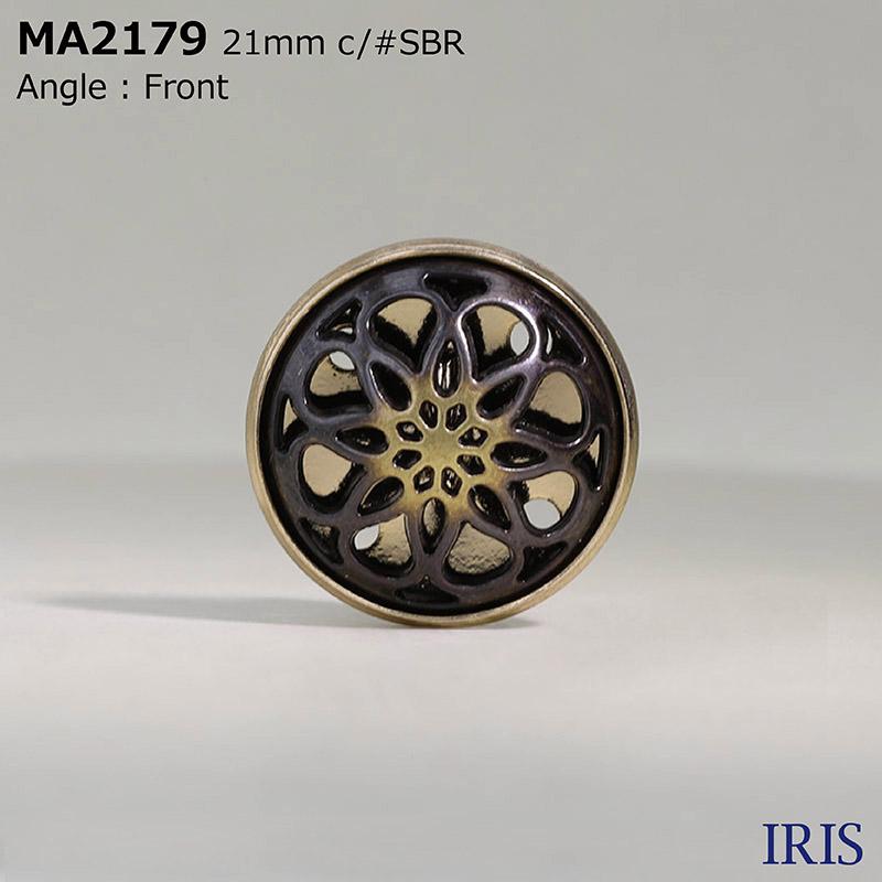 MA2179 ダイカスト/真鍮 丸カン足ボタン  4サイズ2色展開