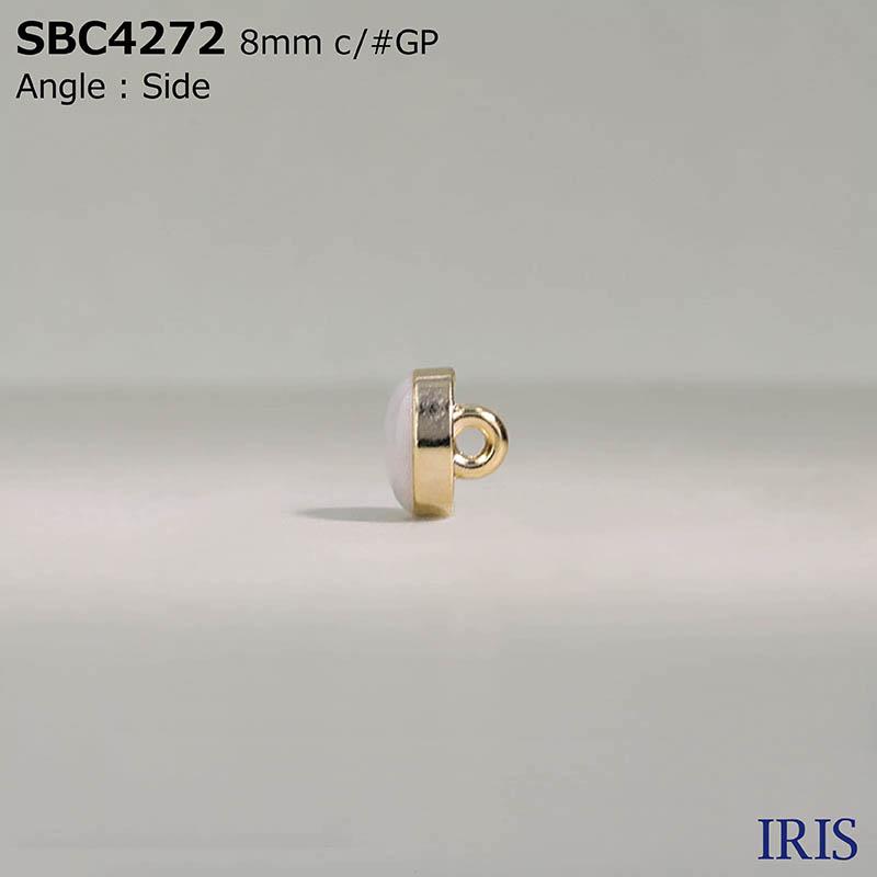 SBC4272 エポキシ樹脂/ダイカスト 丸カン足ボタン  1サイズ4色展開