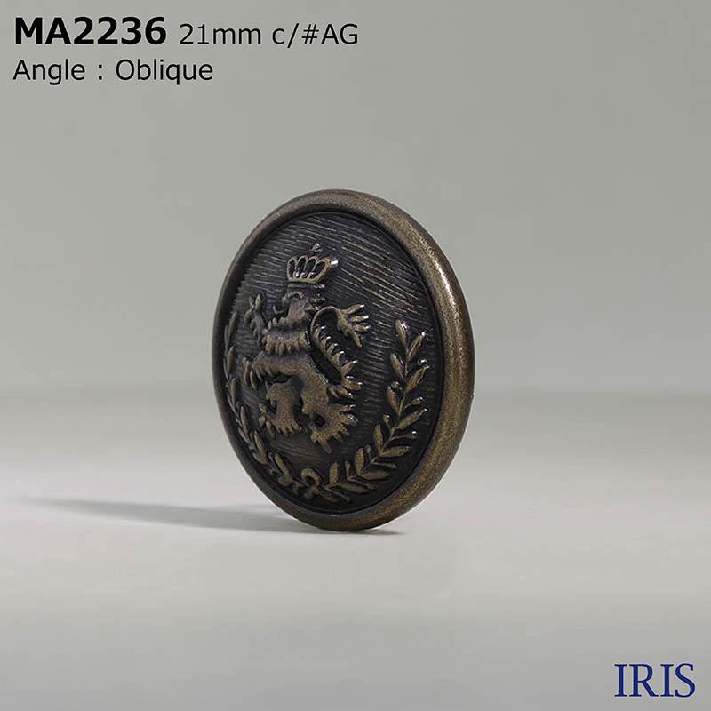 MA2236 真鍮 丸カン足ボタン  4サイズ5色展開