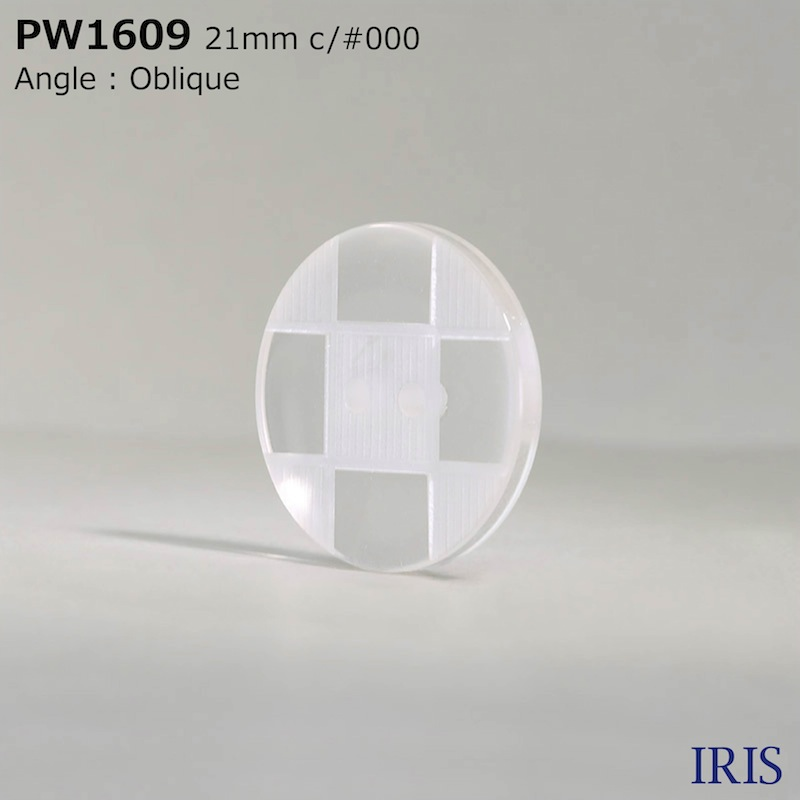 PW1609 ポリエステル樹脂 表穴2つ穴ボタン  6サイズ2色展開
