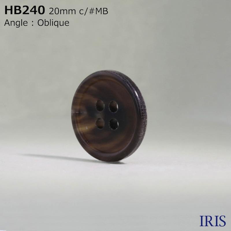 HB240 本水牛 表穴4つ穴ボタン  5サイズ15色展開