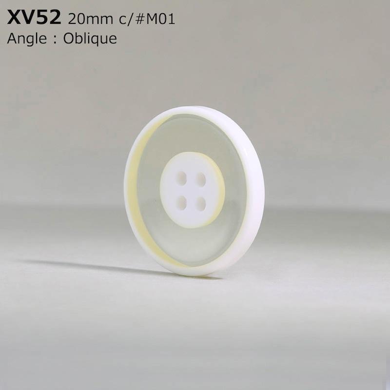 XV52 ポリエステル樹脂 表穴4つ穴ボタン  5サイズ3色展開
