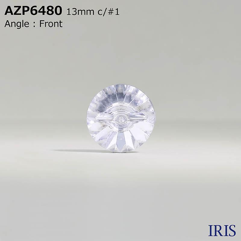 AZP6480 アクリル樹脂 トンネル足ボタン  2サイズ3色展開
