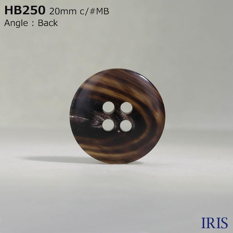 HB250 本水牛 表穴4つ穴ボタン  6サイズ16色展開