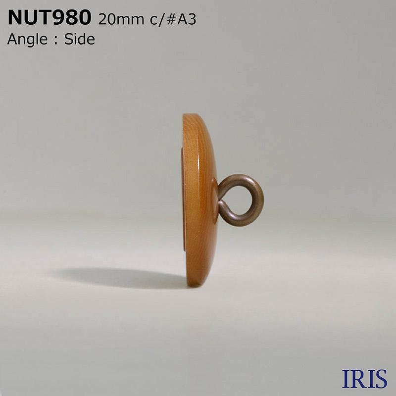 NUT980 真鍮/ナット 丸カン足ボタン  3サイズ5色展開