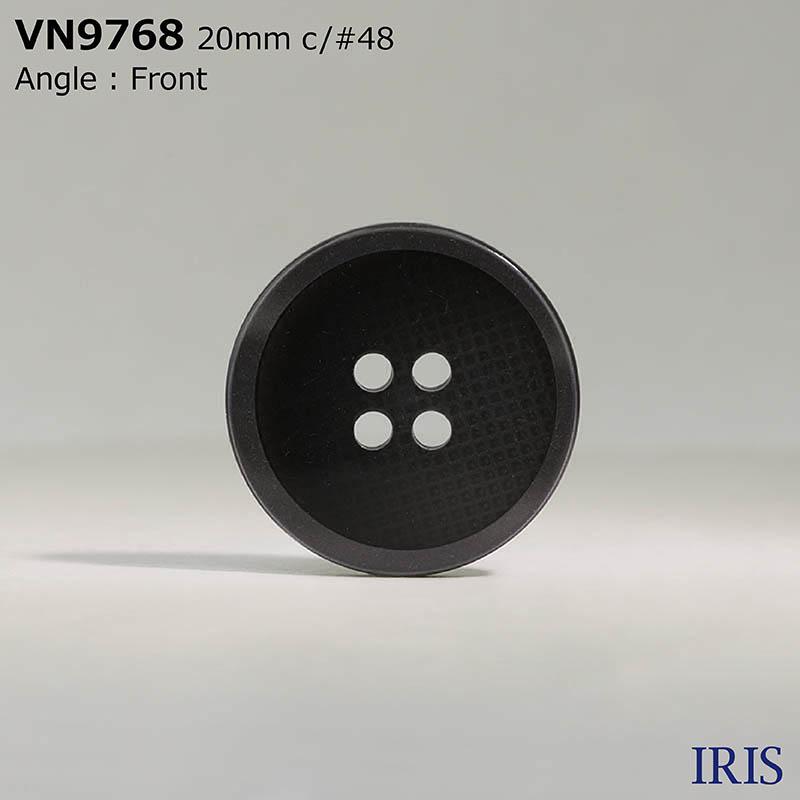 VN9768 ポリエステル樹脂 表穴4つ穴ボタン  4サイズ3色展開