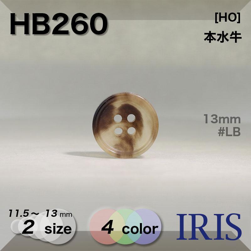 HB260 本水牛 表穴4つ穴ボタン  2サイズ4色展開