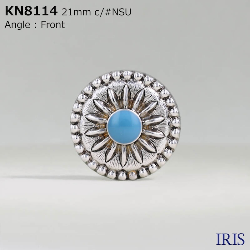 KN8114 エポキシ樹脂/ABS樹脂 角カン足ボタン  5サイズ1色展開