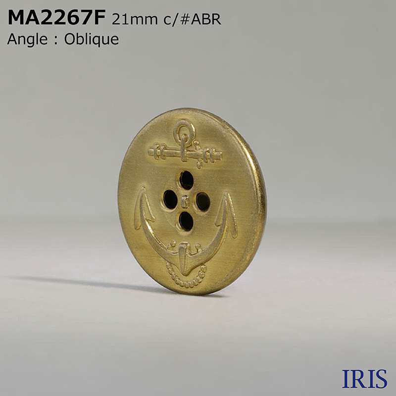 MA2267F 真鍮 表穴4つ穴ボタン  5サイズ4色展開